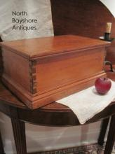 Shaker Painted Dovetailed Box or Chest Ca 1700s