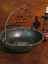 Cast Iron Open Hearth Bowl Bail Handle Early Repair