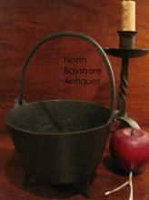 Cast Iron Miniature Cauldron with Gatemark Ca 1700s