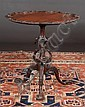 Chippendale mahogany tripod table with shell carved scalloped top, carved eagle heads in the column, acanthus carved knees and ball and claw feet, c.1890-1900, 29