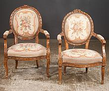 Louis XV style tapestry fauteuil, 25