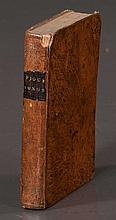Group of four full leather bound books,