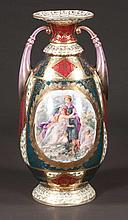 Royal Vienna porcelain vase with garden scene and classical figural decoration, c.1900, 14