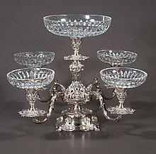 Fine Reed and Barton silver plated epergne with a 9