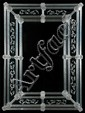 Venetian mirror with etched scroll decoration, 43