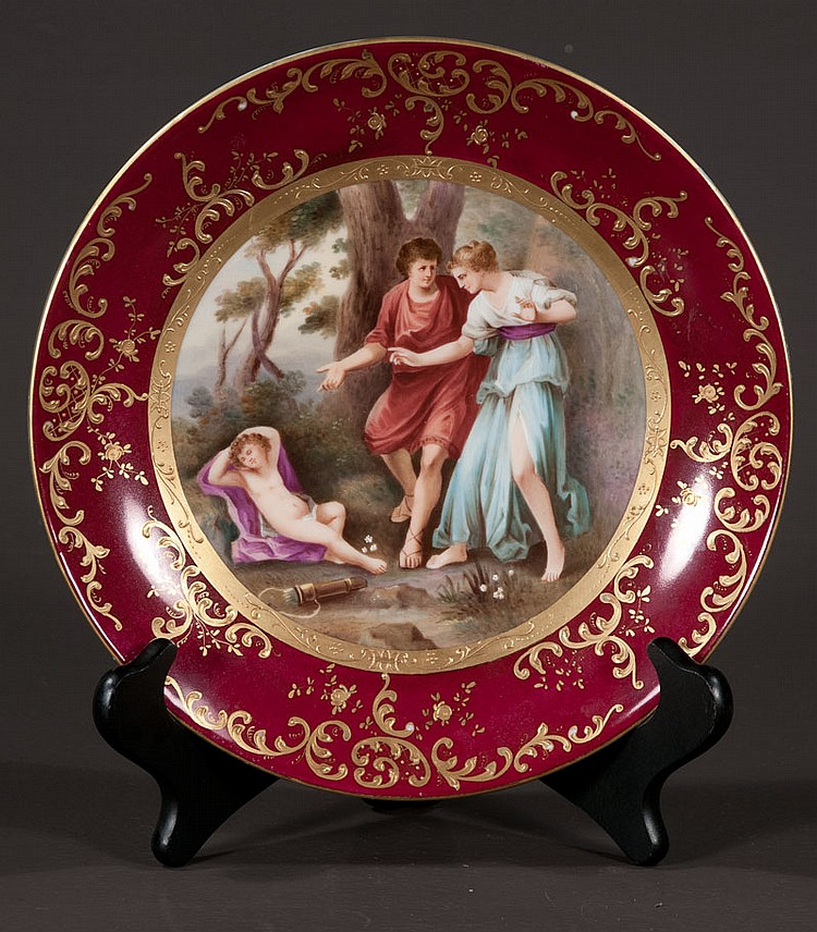 Royal Vienna cabinet plate with classical scenic and figural decoration, 10