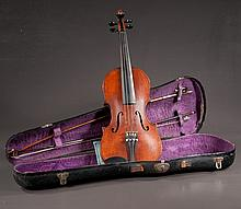 Mahogany violin signed on inside
