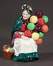 Royal Doulton figure of a lady with cluster of balloons, entitled