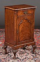 Queen Anne walnut cabinet with one drawer over a cupboard door, c.1890, 17