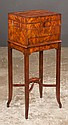 Mahogany dressing table on stand on splayed legs joined by X stretcher, 15