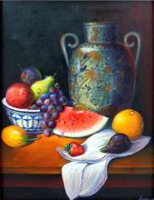 Still Life Fruits-Original Oil-Oropeza
