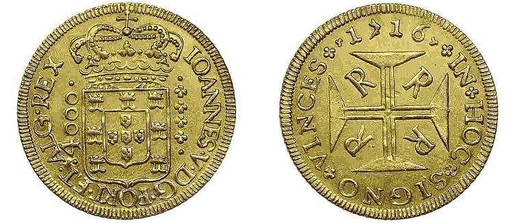 Brazil - D. João V - Moeda 1716 R