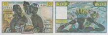 Paper Money - French West Africa e Togo 50 Francs N/D
