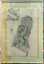 St. Lucia, 1774. One in a series of hand-colored etchings o