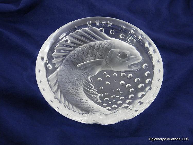 LALIQUE CRYSTAL ASHTRAY