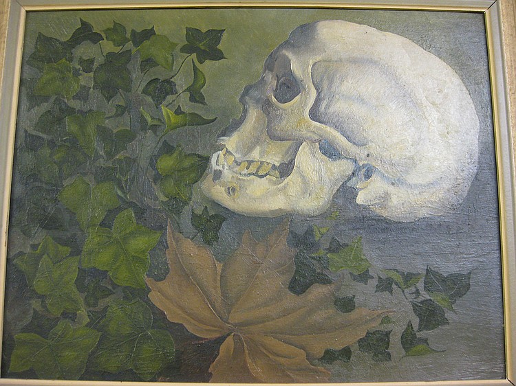 Anne Said, 'Momento Mori', oil on board