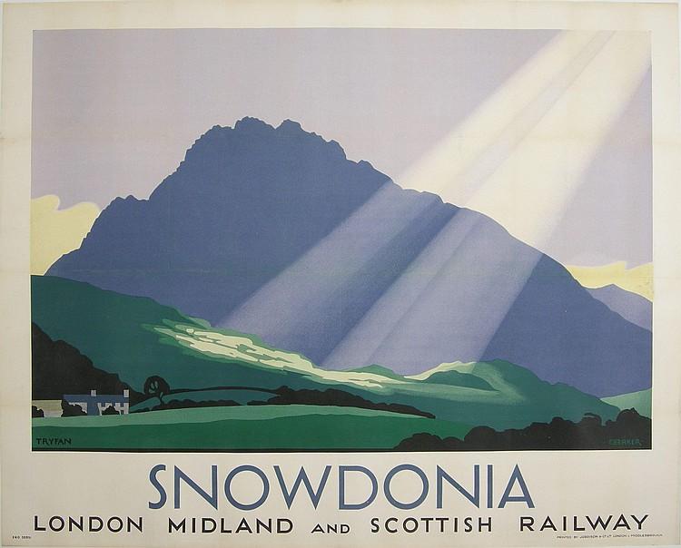 C Baker (Charles H b. 1880) Snowdonia, Tryfan,