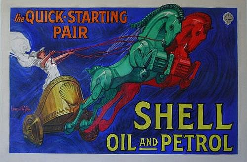 Jean D'Ylen (1886-1938) Shell Oil and Petrol The