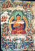 A LARGE OLD TIBETO CHINESE THANGKA