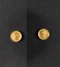 ANDRIEU, d'après.  « Napoléon Empereur et Roi. Marie Louise d'Autriche » Deux médailles de mariage en or.  Diam : 15 mm.  SUP.