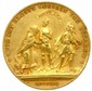 Médaille satirique en bronze doré (Ø 40mm) frappée pour commémorer la guerre de la succession de l'Autriche, 1742. Elle représente Marie Thérèse d'Autriche, le cardinal de Fleury et Charles Albert de Bavière (qui en perd sa couronne). On peut lire :