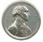 Médaille en métal blanc (Ø 40mm) à l'effigie de George WASHINGTON 1er président des Etats Unis de 1789 à 1797 du graveur Thomas Halliday d'après John Reich frappée en 1816 pour la commémoration du renoncement à la présidence de George Washington le 4