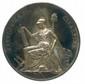Médaille en argent frappé à Milan en souvenir de la Fondation de la République Cisalpine  créée par BONAPARTE le 29 juin 1797. Graveur : Louis Manfredini.  Essling 709 (Ø 63mm , 71,42g) Coups sur la tranche.  Très beau.