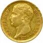 Une pièce de 20 Francs Napoléon Ier (type transitoire) 1807 Paris.  Très beau