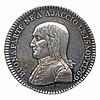 Bonaparte Victorieux an 6 (1797-1798) BUONAPARTE NÉ à AJACCIO LE 15 AOÛT 1769. Buste de Bonaparte à gauche. R/. Légende en quatre lignes dans une couronne de laurier : LA FRANCE LUI DEVRA LA VICTOIRE ET LA PAIx. A l'exergue, AN 6 DE LA RÉPUBLIQUE.
