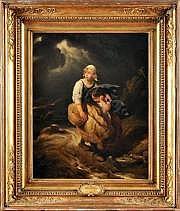 Paul DELAROCHE (Paris 1797 - 1856) Enfants surpris