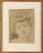 Charles Josuah CHAPLIN (1825-1891)  Jeune femme Dessin 30,5 x 23 cm (12 x 9 in.)  Pencil