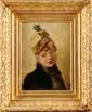 Henri GERVEX (1852-1929) Mélancolie Huile sur panneau (Hardy-Alan) Monogrammée en bas à gauche 41 x 29,5 cm (16,1 x 11,6 in.) L'authenticité de ce tableau a été confirmée par Monsieur Parlong Gouvernec, dont un certificat pourra être délivré à