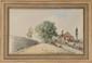 Johan-Barthold JONGKIND (1819-1891) Pêcheur en région parisienne Aquarelle et crayon Signée en bas à gauche Datée 21 juillet 1862 en bas à droite 20,8 x 34 cm (8,2 x 13,4 in.) Notre dessin a été authentifié par le Comité Jongkind-Paris-La Haye et
