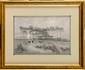 Maurice DAINVILLE (1856-1943) Dans la Lande de Belle-Isle (Bretagne) Crayon et encre de chine Signée en bas à gauche, située au dos 17 X 24 cm (6,7 x 9,4 in.) Dessin du tableau du Salon de 1889 , reproduit au Catalogue Illustré du Salon p. 161 Pencil