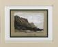 François Richard de MONTHOLON (1856-1940) Le Cap Gris-Nez au soir, 1897 Crayon, plume et lavis d'encre de chine, réhauts de blanc Etiquette de la vente d'atelier au dos 17 x 21 cm (6,7 x 8,3 in.) Notre dessin était destiné au Guide de J. PIZZETTA.