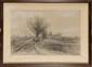 Marie Abrahams ROSALBIN DE BUNCEY (1852-1876) Moulin de Bagnolet et les Près St Gervais / La butte et les moulins de Châtillon Deux dessins au fusain et à la craie blanche Signé en bas à droite / Signé en bas à gauche 32,7 x 51,3 cm à vue chacun