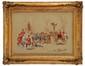 DE MARCILLAC (XIX-XX)  Chasse à coure Aquarelle et gouache Signée en bas à droite 48 x 65 cm (18,9 x 25,6 in.)  Watercolour and gouache