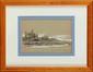 François Richard de MONTHOLON (1856-1940) Marais Salants et Forêt d'Olonne , Vendée , 1899 Crayon, plume et lavis d'encre de chine, réhauts de blanc Etiquette de la vente d''atelier au dos 21 x 24 cm (8,3 x 9,4 in.) Pencil, ink and wash drawing,