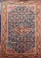 Ancien MAHAL (Iran) fond marine décor herati Milieu XXème siècle 200 x 130 cm