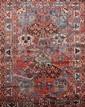 Grand BAKTIAR (Iran) à décor floral géométrique Vers 1970 296 x 206 cm