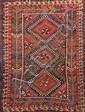 Ancien QUASGAÏ (KHAMSEH Perse) à décor géométrique Fin XIXème siècle 190 x 124 cm