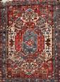 Assez fin HAMADAN (Iran) à décor floral Milieu XXème siècle 160 x 110 cm