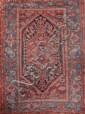 KHAMSEH famille des « Melayers » (Iran) à décor floral géométrique Milieu XXème siècle 195 x 130 cm