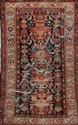 Original et ancien MELAYER (Perse) décor européen rappelant la Savonnerie française 1ère partie du XXème siècle 190 x 105 cm