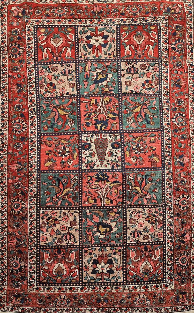 BAKTIAR ( Iran) décor jardin Vers 1965 220 x 132 cm