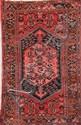 HAMADAN (Iran) sur fond rouge à branchages floraux Vers 1970 210 x 130 cm