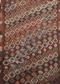 Ancien KILIM-SHASAVAN à sabliers stylisés (symbole du temps écoulé pour le tisserand) Fin XIXème-début XXème 296 x 164 cm