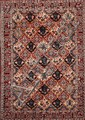Grand BAKTIAR-SEMNAN à semis de caissons floraux et animaux en polychromie Vers 1970 317 x 207 cm