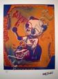 Drums, Clockwork (bleu, orange) Sérigraphie signée dans la planche Numérotée 1615 sur 5000 par l'éditeur 32 x 21 cm
