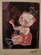 Drums, Clockwork (fushia, noir) Sérigraphie signée dans la planche Numérotée 1918 sur 5000 par l'éditeur 32 x 21 cm
